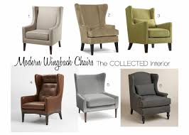contemporary wing chairs best awesome modern wingback chair leather 4744
