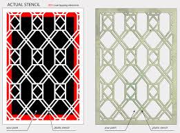 decor pattern stencil window glass trellis 02 067 shabby chic