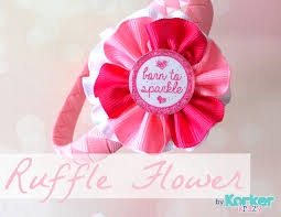 hair bow center ruffled ribbon flower the hairbow center