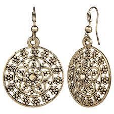 danglers earings buy efulgenz antique oxidised danglers earrings for and