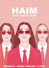 haim poster haim on dreamy poster for our show in