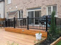 Metal Handrail Lowes Metal Deck Design With Regard To Your Own Home Xdmagazine Net