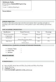 sample resume for freshers engineers download fresher engineer