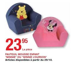 siege bebe mousse trafic promotion fauteuil mousse enfant minnie ou winnie l ourson