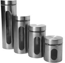 black kitchen canisters anchor hocking glass kitchen canister sets ebay
