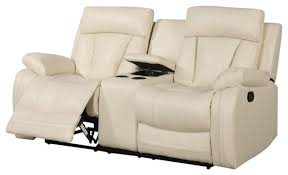 Beige Leather Loveseat Parent Contemporary Loveseats By Meridian Furniture