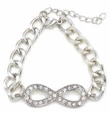 silver bracelet styles images Infinity symbol cross horseshoe charm bracelet silver gold beaded jpg