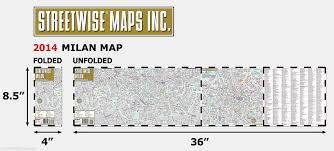 Milan Metro Map by Streetwise Milan Map Laminated City Center Street Map Of Milan