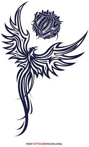 tribal phoenix tattoo my idea pulls the wings up and around to