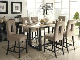 counter height dining table modern room chairs for sale marble top