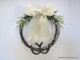 horseshoe wreath barb wire and horseshoe wreath hometalk