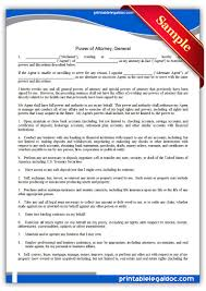 Free Real Estate Contract Templates by Free Printable Ratification Of Power Of Attorney Form Generic