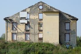 abandoned place spinning ruin decay building exterior built