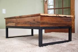 Rustic Coffee Tables With Storage - table storage coffee table lift top barcamp medellin interior