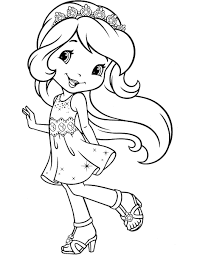 strawberry shortcake coloring pages for kids the latest cakes ideas