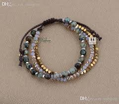 braid bracelet with beads images Wholesale exclusive african turquoise with crystals and gold beads jpg