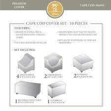 amazon com tk classics capecod winter cover set 07bwc patio
