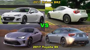 subaru white 2017 2017 subaru brz vs 2017 toyota 86 youtube