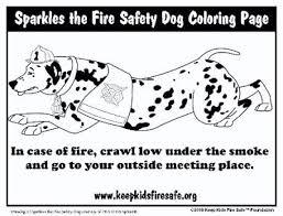firesafetyeducator sparkles fire safety dog coloring