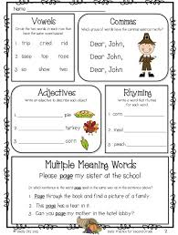 ideas of thanksgiving worksheets second grade on resume shishita