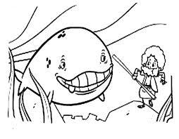 cartoon jonah whale coloring netart