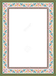 floral ornament border frame colored royalty free cliparts