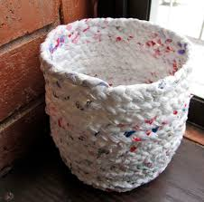 How To Crochet A Rug Out Of Yarn Make A Basket Out Of Plastic Bags 11 Steps With Pictures