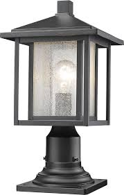 Outside Post Light Fixtures Z Lite 554phm 533pm Bk Aspen Black Exterior L Post Light