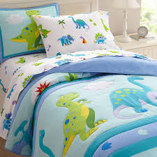 Boys Double Duvet Sets Stylish Dinosaur Land Animal Duvet Covers For Boys Cotton And