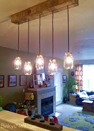 Canning Jar Lights Chandelier Mason Jar U0026 Rustic Pallet Light Fixture Diy On Binkysnest Com