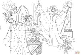 maleficent curses the infant princess coloring page free