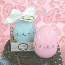 baby shower favors time for baby egg timer baby shower favors in blue or pink