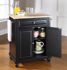 buy cambridge natural wood top portable kitchen island w bun feet
