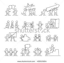 cartoon icons set sketch little people stock vector 525226291