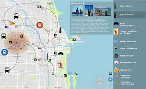 The Bean Chicago Map by Evl Electronic Visualization Laboratory