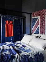 liberty union jack used as bed head shed house ideas pinterest