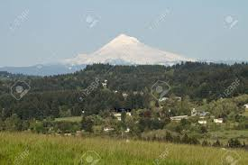Valley Oregon Mount From Happy Valley Oregon Scenic View Stock Photo Picture