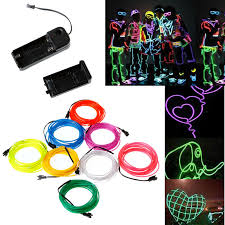 aliexpress com buy white flexible neon light el wire tube