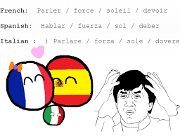 Spain Meme - country ball poland ball of italy france and spain meme funny