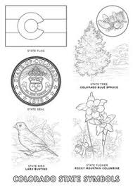 united states symbols coloring pages colorado state stamp coloring page usa coloring pages