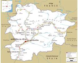 Nd Road Map Maps Of Andorra Detailed Map Of Andorra In English Tourist Map