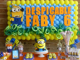 minions birthday party ideas minion birthday party despicable mei like the idea of the blue