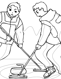 curling coloring page handipoints