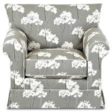 Slipcover For Chair And Ottoman Transitional Skirted Chair And Ottoman Set By Klaussner Wolf And