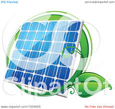 solar panels clipart clipart of a shiny blue solar panel with a circle of green leaves