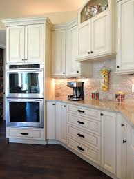 antique white kitchen cabinets with subway tile backsplash antique white backsplash houzz