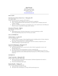 resume to get into law