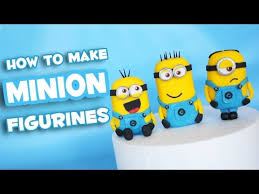 edible minions how to make minion fondant cake topper figurine tutorial