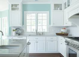 Turquoise Cabinets Kitchen White And Turquoise Kitchen Features Walls Painted Turquoise Blue