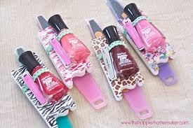 manicure set favors favor sally hansen foot file emery board toe separators